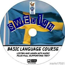 LEARN TO SPEAK SWEDISH PCCD LANGUAGE COURSE EASY BEGINNER PROGRAM MP3 + TEXT NEW
