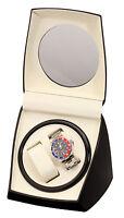 Watch Winder Dual 2 watches Diplomat Case Box StorageBlack Double Dual Automati