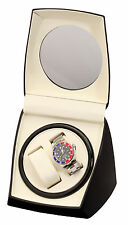 Watch Winder Dual 2 watches Diplomat Case Box StorageBlack Double Dual Automati