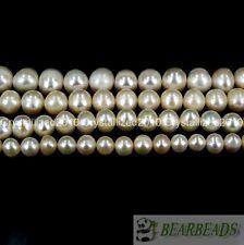 "Natural Blanco agua dulce perla redonda granos 5 mm 6 mm 7 mm 8 mm 9 mm 10 mm 11 mm 16"""