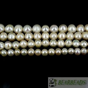 Natural White Freshwater Pearl Round Beads 5mm 6mm 7mm 8mm 9mm 10mm 11mm 16""