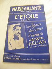 Partition Marie Galante L'Etoile Jacques Hélian