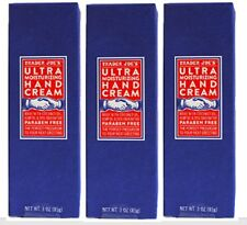 3x Trader Joes Ultra Moisturizing Cream 3oz ea- Parabe Free Hemp Oil Shea Butter
