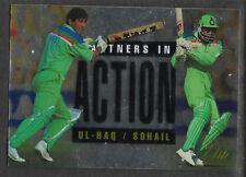 FUTERA 1996 CRICKET ELITE INZAMAM-UL-HAQ & AAMIR SOHAIL PARTNERS CARD No 48