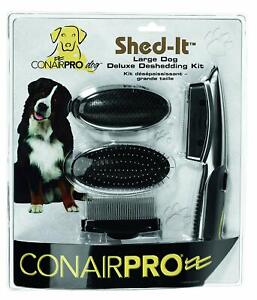 ConairPRO Dog Large Dog Deluxe Deshedding Kit NEW IN PACKAGE LQQK