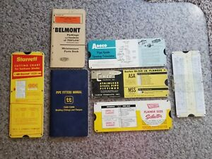STARRETT Industial Machinist Charts, Pipe Fitters Manual, Maintenance Book Lot