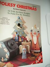DECORATIVE  TOLE PAINTING BOOK FOLKSY CHRISTMAS