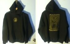 Pull On Sweat Shirt Hoodie L Polynesia Gildan Manav Brown Grey Green Dance Sport