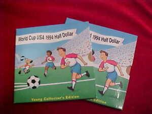 222b) 2 - 1994 World Cup USA Half Dollar Young Collector's Edition - OGP/COA