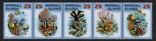 MARSHALL ISLANDS, SCOTT # 986, STRIP OF 5 CORALS & FISH, MARINE LIFE YEAR 2011
