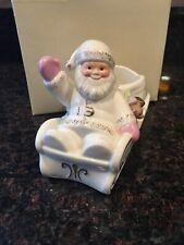Lenox Classic Santa's Brightest Wish Christmas Votive Candle Holder Decoration