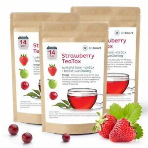 Strawberry TEATOX 14 DAY DIET Weight Loss Detox Skinny Fat Burn Slimming Tea