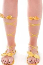 Fancy Dress Gold Sandals Greek Roman Egyptian Cleopatra Goddess toga Shoes