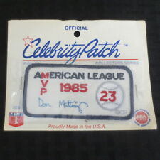 1986 Don Mattingly Celebrity Patch 1985 American League MVP Facsimile Autograph