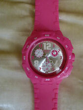 SWATCH lady wrist Chronograph watch with shocking pink silicon strap - NEW