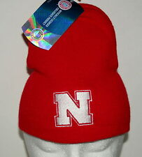 University of Nebraska CornHuskers Team NCCA Football Red Knit Cap Hat New OSFM