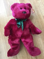 Ty Beanie Buddy Teddy 1998 Tags Retired Cranberry 4OF5