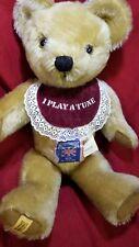 "Merrythought 18"" Vintage MUSICAL London Bridge 1980's Gold Mohair Teddy Bear"