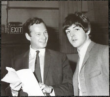 THE BEATLES POSTER PAGE 1964 PAUL MCCARTNEY & BRIAN EPSTEIN AT ABBEY ROAD . J28