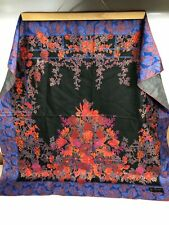 Authentic Jim Thompson Silk Amazing Floral Square/Scarf Thailand Very Nice Piece