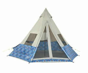 "Wenzel Shenanigan 5 Blue Geo Tent 90"" High x 11' 6"" x 10' Floor 86 sq ft NEW"