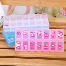 Hot 14 Cell Tablet Medicine Pill Box Storage Organizer Container Case Color