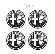 4x65mm For Alfa Romeo Wheel Center Stickers Carbon Badge Logo White Yellow Gray