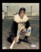 Willie Mays PSA DNA Cert Hand Signed 8x10 Photo Autograph