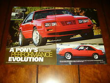 1983 FORD MUSTANG 1997 COBRA SUPERCHARGED ENGINE   ***ORIGINAL 2005 ARTICLE***