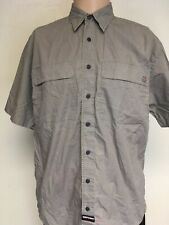 INDEPENDENT TRUCK CO EMBROIDERED BUTTON UP SHIRT Stone Khaki IRON CROSS M Skate