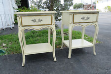 French Painted Pair of Nightstands Side Tables by Dixie 1275