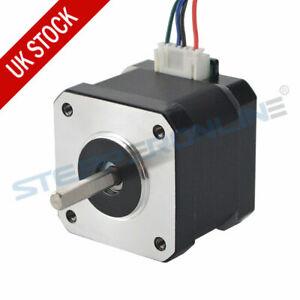 Nema 17 Stepper Motor 44Ncm 1.7A 38mm 12V 4-wire w/ 1m Cable for CNC 3D Printer