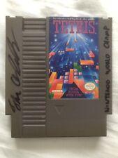 Thor Aackerlund 1990 Nintendo World Champion Signed Original NES Tetris Cartridg