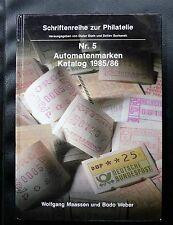 CATALOGUE N°5 AUTOMATENMARKEN 1985/86 - WOLFGANG MAASSEN UND BOBO WEBER - 141 P