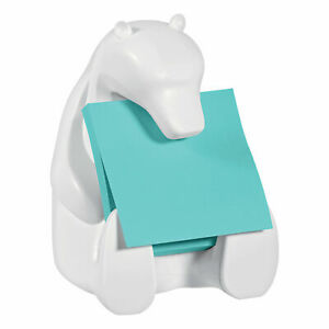 Post it Z Notes Bear Dispenser with Super Sticky Z Notes Aquawave 76 x 76 mm 90