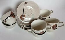 8 RED WING POTTERY LUTE SONG Musical Coffee Tea Cup and Saucer Sets 16 Piece