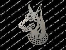 Doberman Head - Metal Silhouette Sign Wall Art Guard Dog Face Cute Plasma Cut