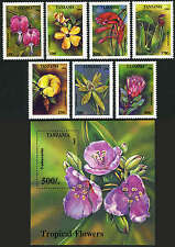 Tanzania 1303-1310, MI 1880-1887, Bl.263, MNH. Tropical Flowers:Cyrtanthus, 1994