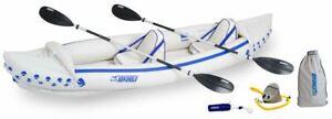 New Sea Eagle 370 PRO Inflatable 2 Seat Kayak Canoe, Free Ship, 3 Yr Warranty
