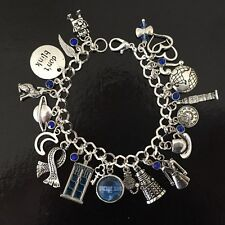 Doctor Who Charm Bracelet, Dr Who, Whovian, Time Lord, Fandom Gift