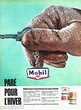 PUBLICITE ADVERTISING 096  1961  Mobil  huil Mobilgel mobiloil