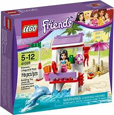 New Lego Friends Emma's Lifeguard Post Building Set 40128 w/ Dolphin & Minifig