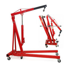 Professional 2 Ton 2000KG Hydraulic Folding Engine Crane Hoist Lift Jack Wheels