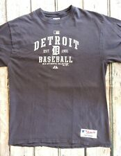 Authentic Majestic Baseball T-Shirt Mens Size Large Blue Detroit MLB Collection