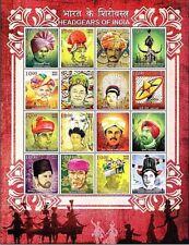"India - ""REGIONAL CAPS ~ TURBAN ~ HEADGEARS OF INDIA"" Sheetlet 2017 !"