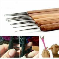 New Bamboo Handle Tool Dreadlock Making Braiding Hair Crochet Needle Micro Hooks