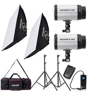 600W Photo Studio Monolight Strobe Flash Light Softbox Lighting Kit