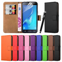 For Samsung Galaxy J3 (2016) Case Flip Leather Wallet Premium Stand Luxury Cover