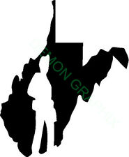 West Virginia Coal Miner vinyl decal/sticker state WV mining/free shipping