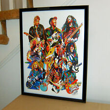 90's Guitar Players, Dimebag Darrell, Buckethead, Kurt Cobain 18x24 POSTER w/COA
